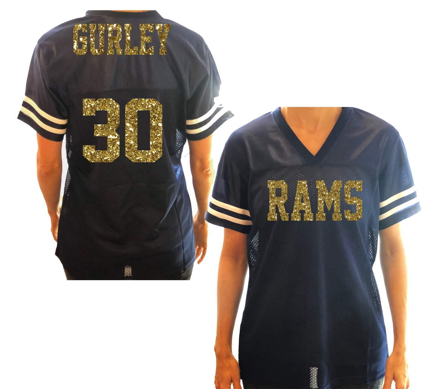 3d96b8f5 Rams Women's Jersey Shirt - or Any Football Team and Favorite Colors ...
