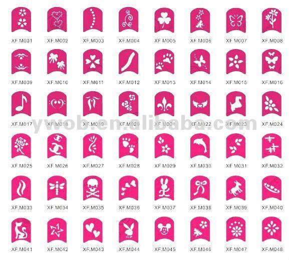 Nail Art Design Stencil Finger Stencils