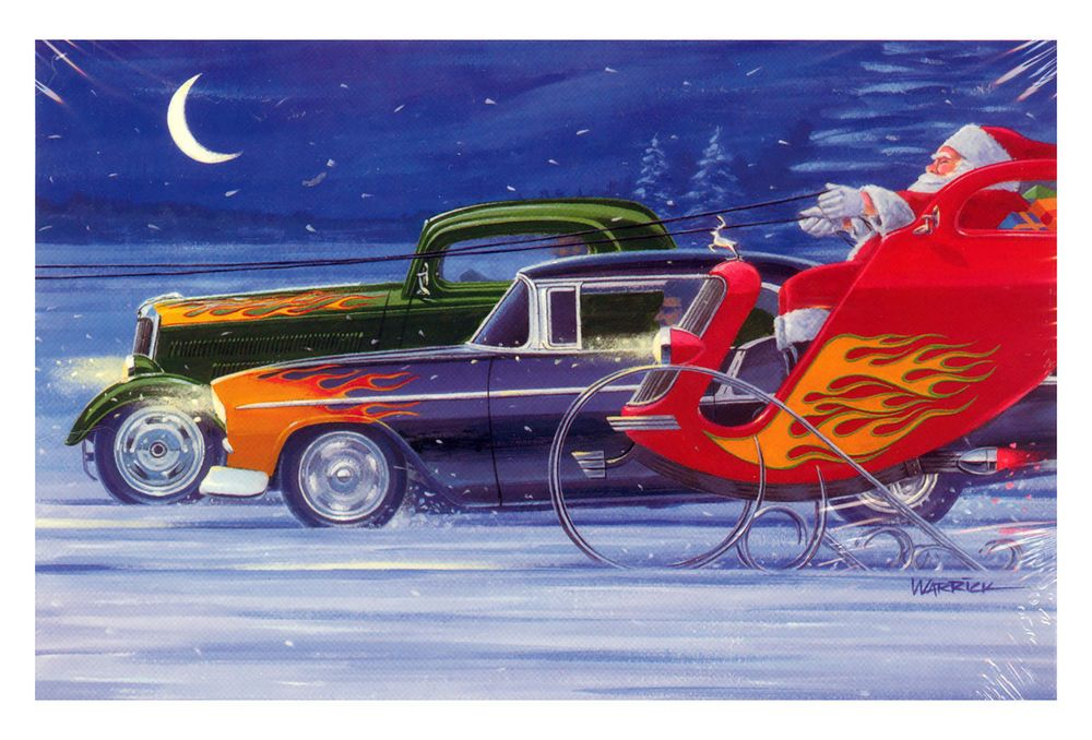 Hot Rods Christmas Cards - X-746 - One (1) Pack of 10 Cards ...