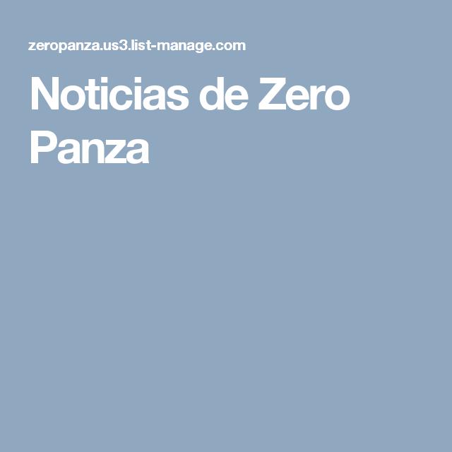 Noticias de Zero Panza