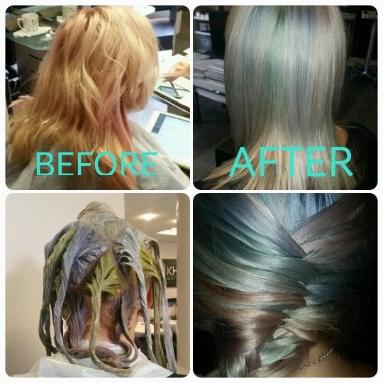 #instamatic #rainbow #hair #colour #colourID #khhairleicester