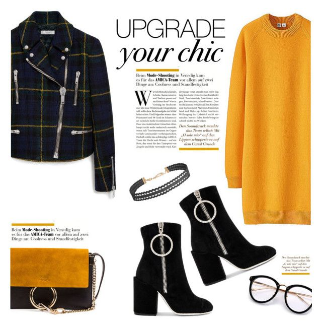 """""""Upgrade Yo Chic"""" by lisalockhart ❤ liked on Polyvore featuring Uniqlo, Mulberry, Off-White, Chloé and Humble Chic"""