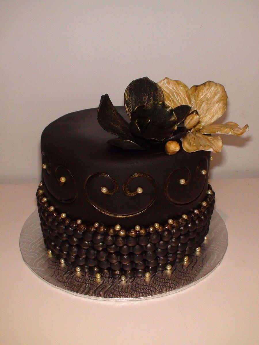 Black Gold Birthday Cake Black And Gold Birthday Cake Gold Birthday Cake Black And Gold Cake