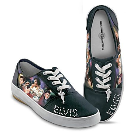 bf85872ed7283f A first-ever! Elvis Presley® women s canvas sneakers feature Elvis ...
