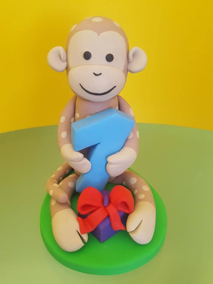 1st birthday monkey cake topper 1st cake topper Monkey cake