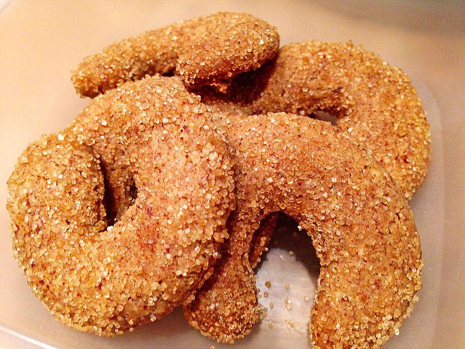 Lebkuchen-Dinkel-Kipferln ohne Ei eifrei