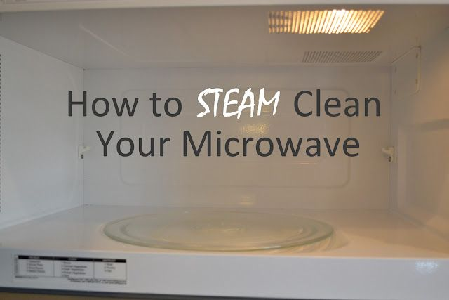 Steam cleaning your microwave - yes!