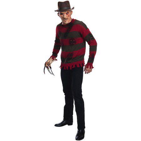 Freddy Krueger Deluxe Sweater A Nightmare on Elm Street Adult Halloween Costume