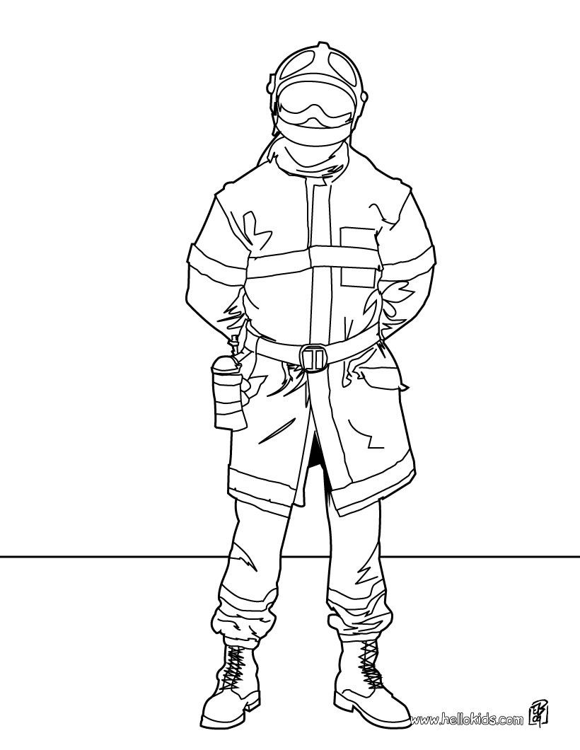 Fireman coloring page. Amazing way for kids to discover fireman job ...