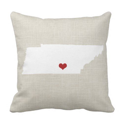 """Tennessee New Residence State Throw Pillow sixteen"""" x sixteen"""".  Discover even more at the picture link"""