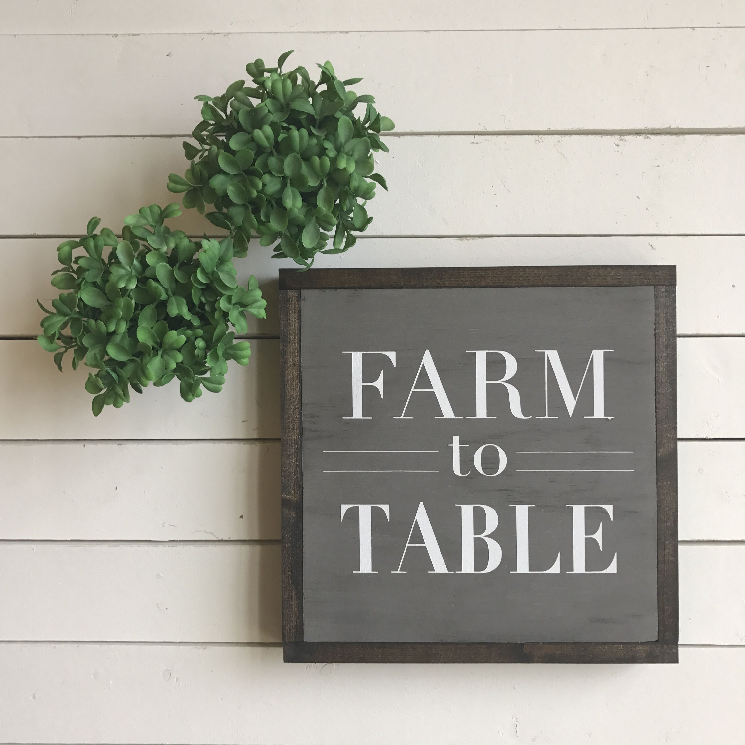 Farm to Table is one of our most popular