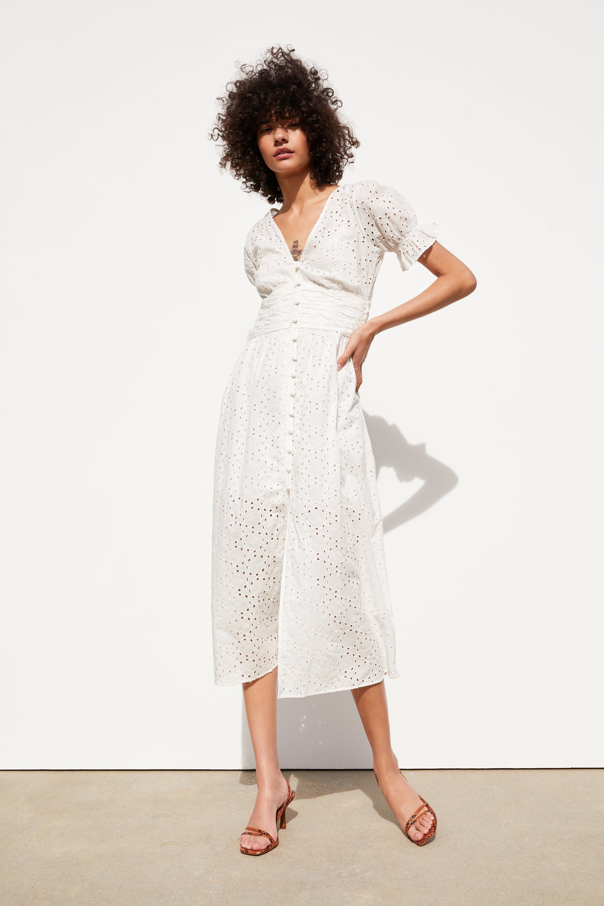1d4abf11 OPENWORK EMBROIDERY DRESS - View all-DRESSES-WOMAN | ZARA United States