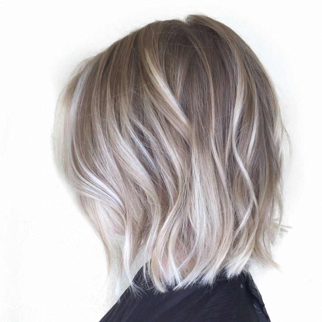 Medium Length Ash Blonde Bob Haircut For Fine Hair Haircuts For Fine Hair Short Hair Balayage
