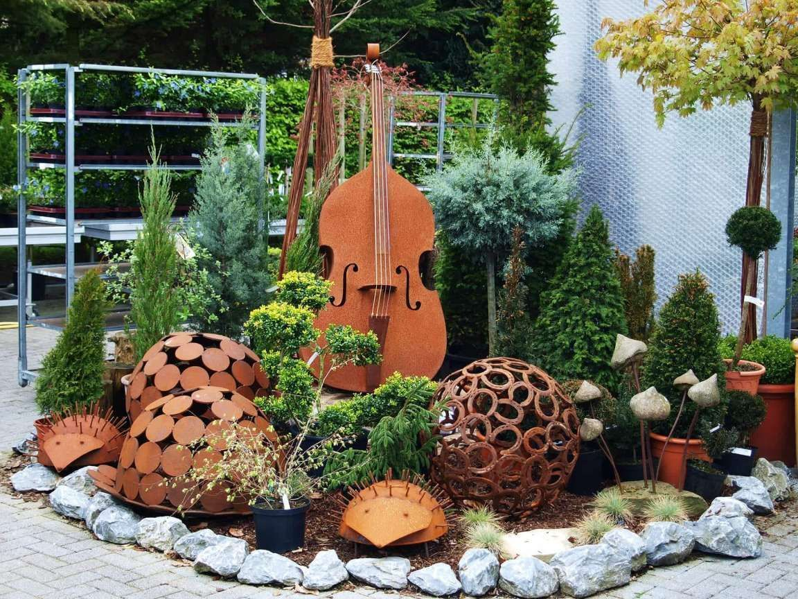 18 Gartengestaltung Mit Rost Deko Deko Dekohauseingangrost Gartengestaltung Garden Deco Wood Working Gifts Wood Trellis