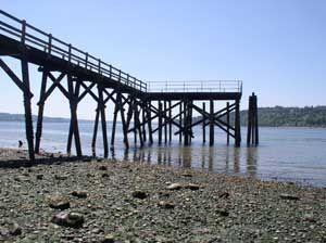 Point White Pier, 100' long, was a major dock on Bainbridge.