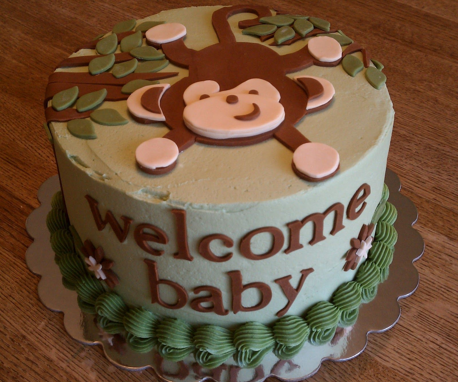 Delightful Simply Sweet: Monkey Baby Shower Cake