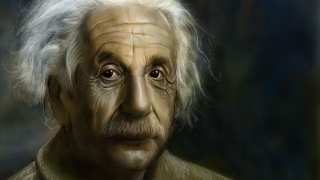 """@AlbertEinstein : Check out this great speed painting video of #AlbertEinstein who once said """"I am an artist's model."""" https://t.co/c4zRyBLdWL"""