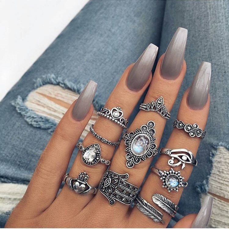 20 worth trying long stiletto nails designs style designs tumblr prinsesfo Choice Image