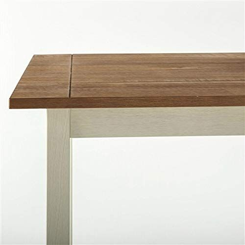 Classic Pine Wood 45 X 28 Inch Dining Table With White Legs Walnut