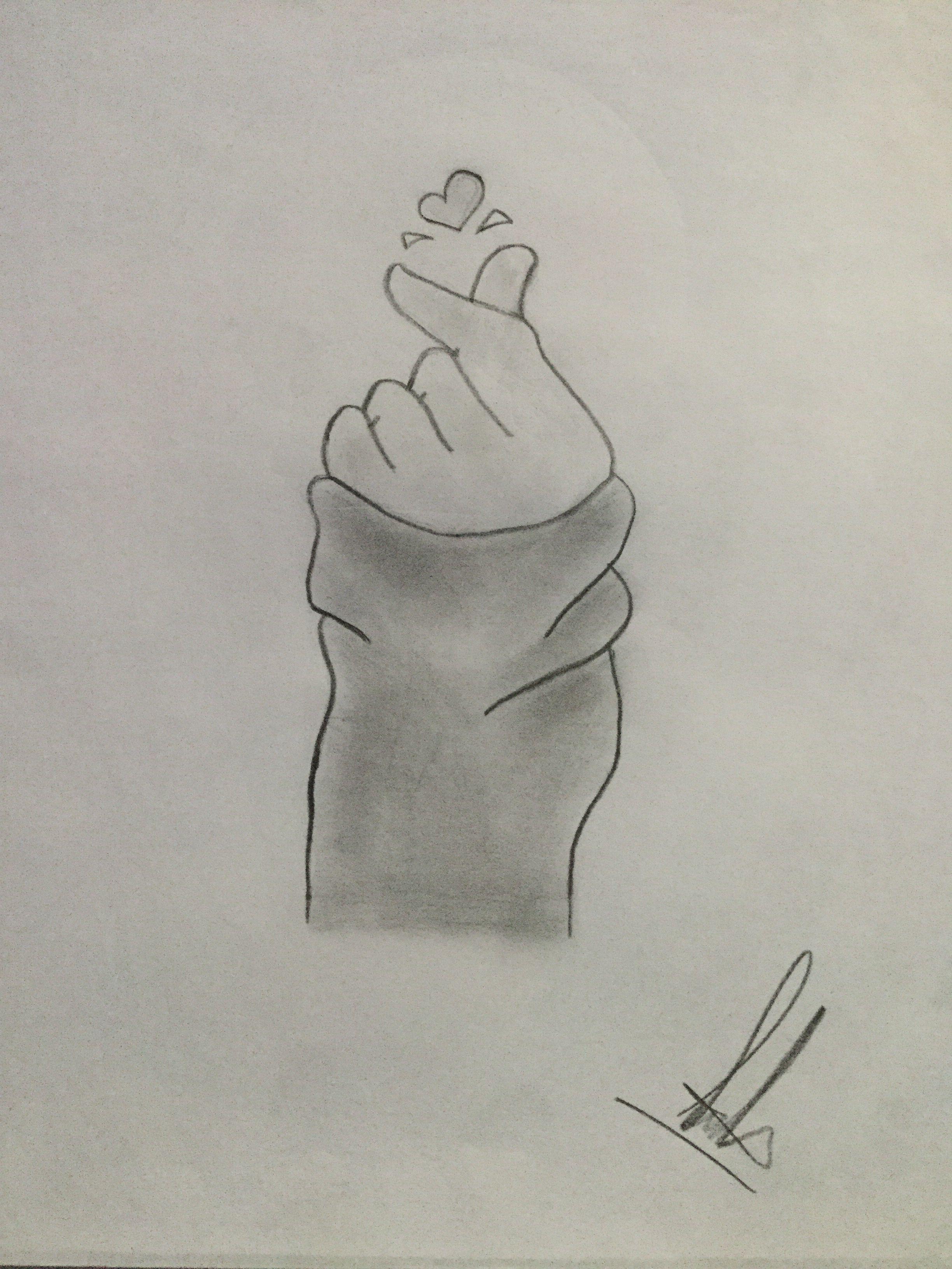 Drawings love me simple shading pencilart beautiful art