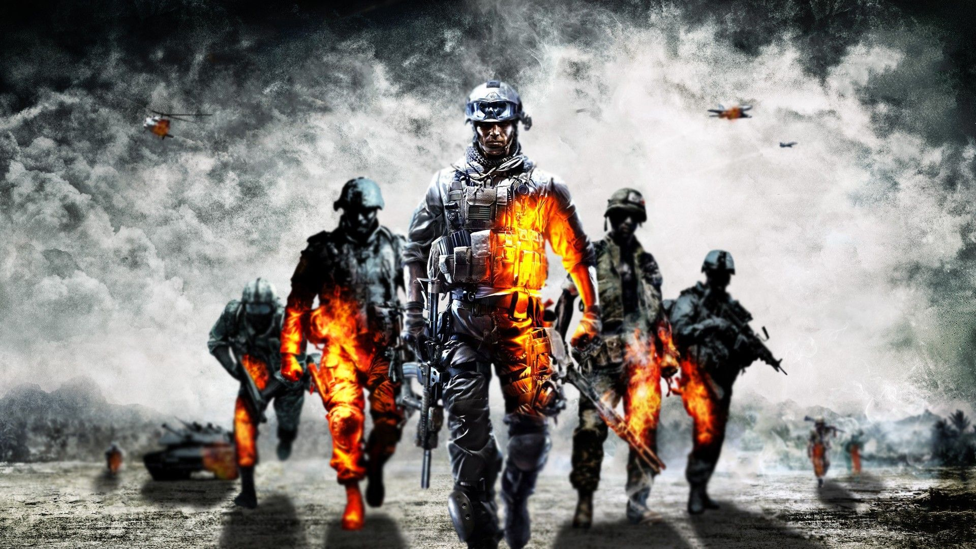 Wallpaper Battlefield 3, Graphics, Light, Skull, Helmet HD ...