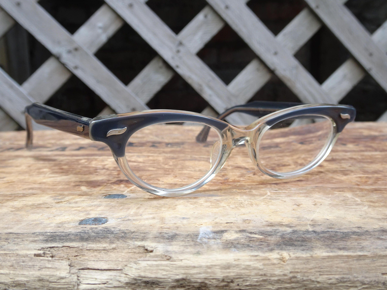 Vintage Childs Cateye Vanity Varsity Eyeglass Frames Retro