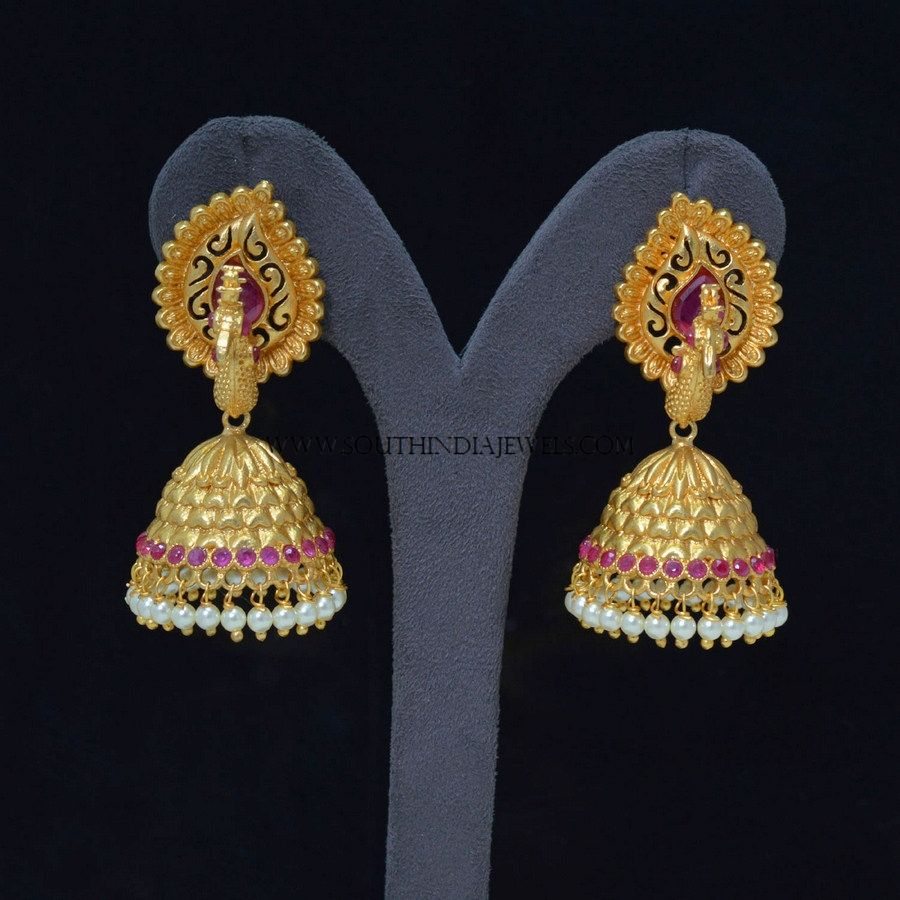 Artificial Peacock Jhumka Design | Peacocks, South india and Gold