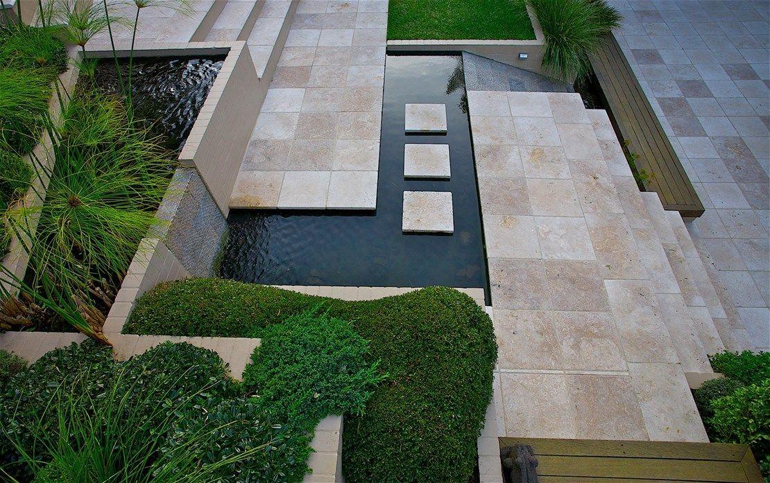 Sydney Landscaping Garden Design Construction Maintenance Sydney Art In Green Water Features In The Garden Terrace Garden Design Steep Backyard