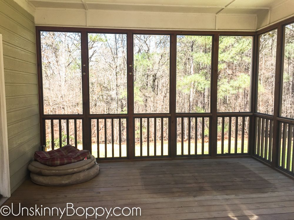 Screenedin Back Porch Decorating Ideas with Swinging Day