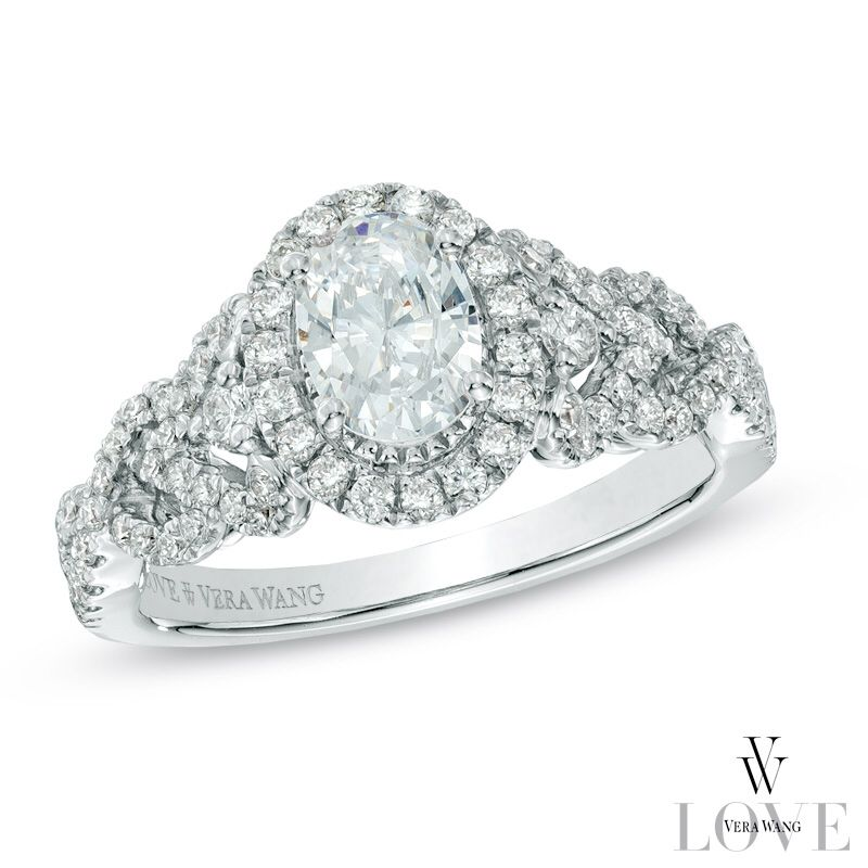 Love Vera Wang! Vera wang engagement rings, 14k white