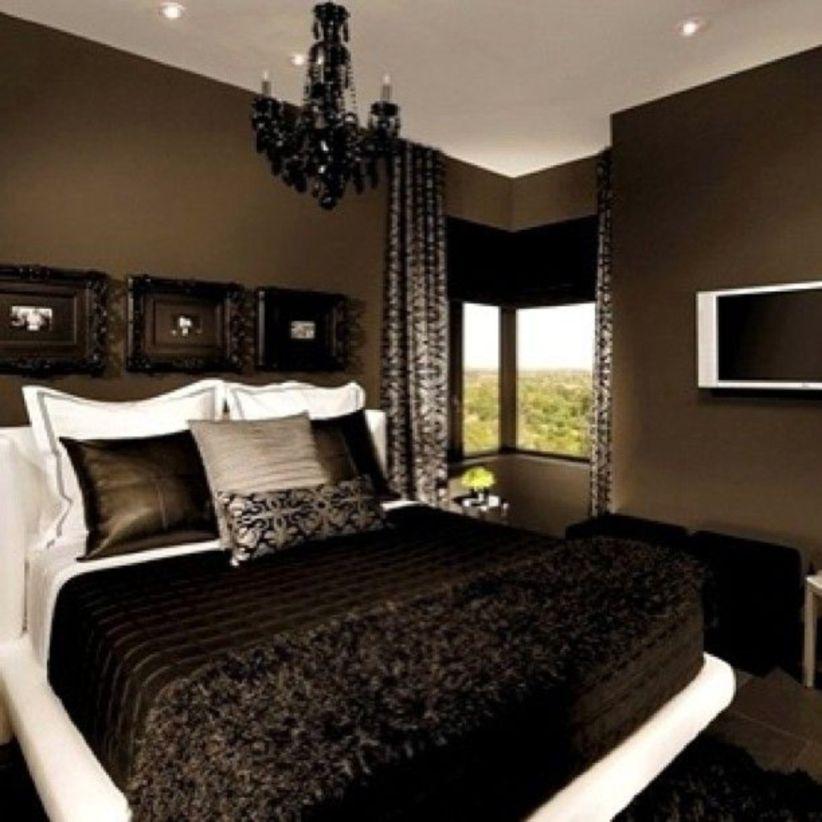 43 Elegant Black Bedroom Design Ideas For Amazing Home in ...