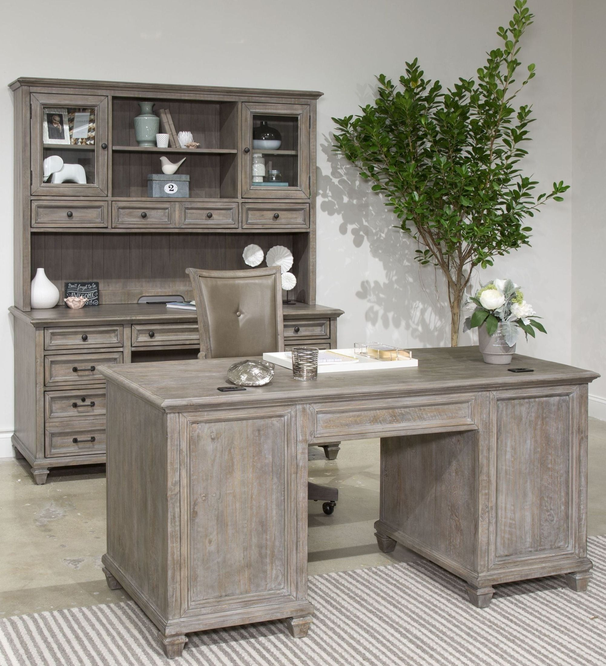 size 40 0dfb9 f5e3c Lancaster Dove Tail Grey Executive Home Office Set from ...