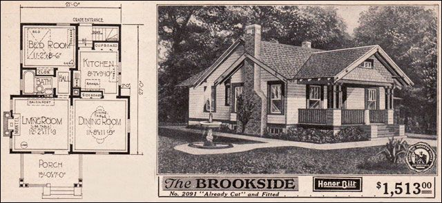 Small Home Designs Vintage Small House Plans 1923 Sears Brookside Craftsman Styl Small Craftsman House Plans Craftsman Style Bungalow Vintage House Plans