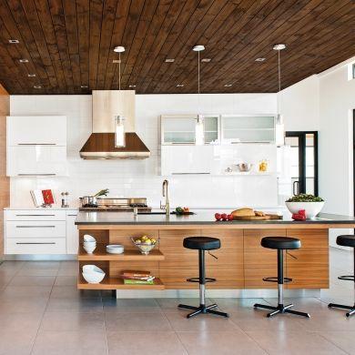cuisine contemporaine et conviviale armoires. Black Bedroom Furniture Sets. Home Design Ideas