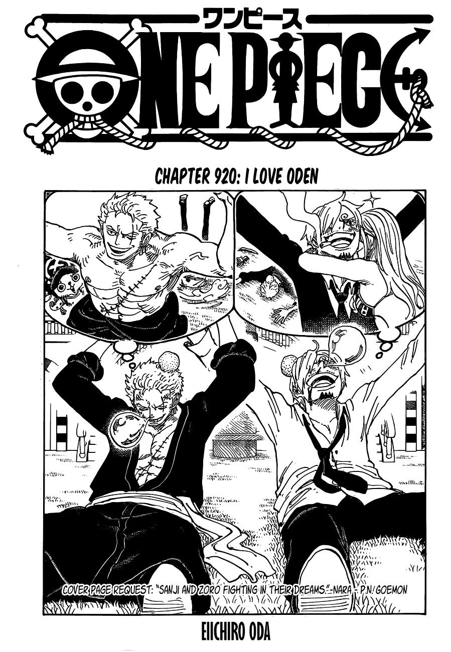 Zoro And Sanji Fighting In Their Dreams Cover Page Chapter 920 One Piece Manga One Piece Comic One Piece Chapter