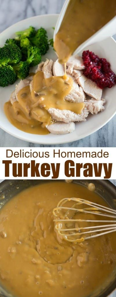 Homemade Turkey Gravy is so easy and absolutely delicious. It's time to embrace those giblets stored inside your turkey and use the giblets to make this delicious from scratch giblet gravy recipe!  #fromdrippings #easy #recipe #withgiblets #gravy #turkey #thanksgiving #tastesbetterfromscratch.com via @betrfromscratch #turkeygravyfromdrippingseasy