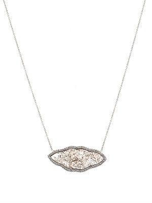 Susan Foster Diamond slice & white-gold necklace uC9QAnJJa