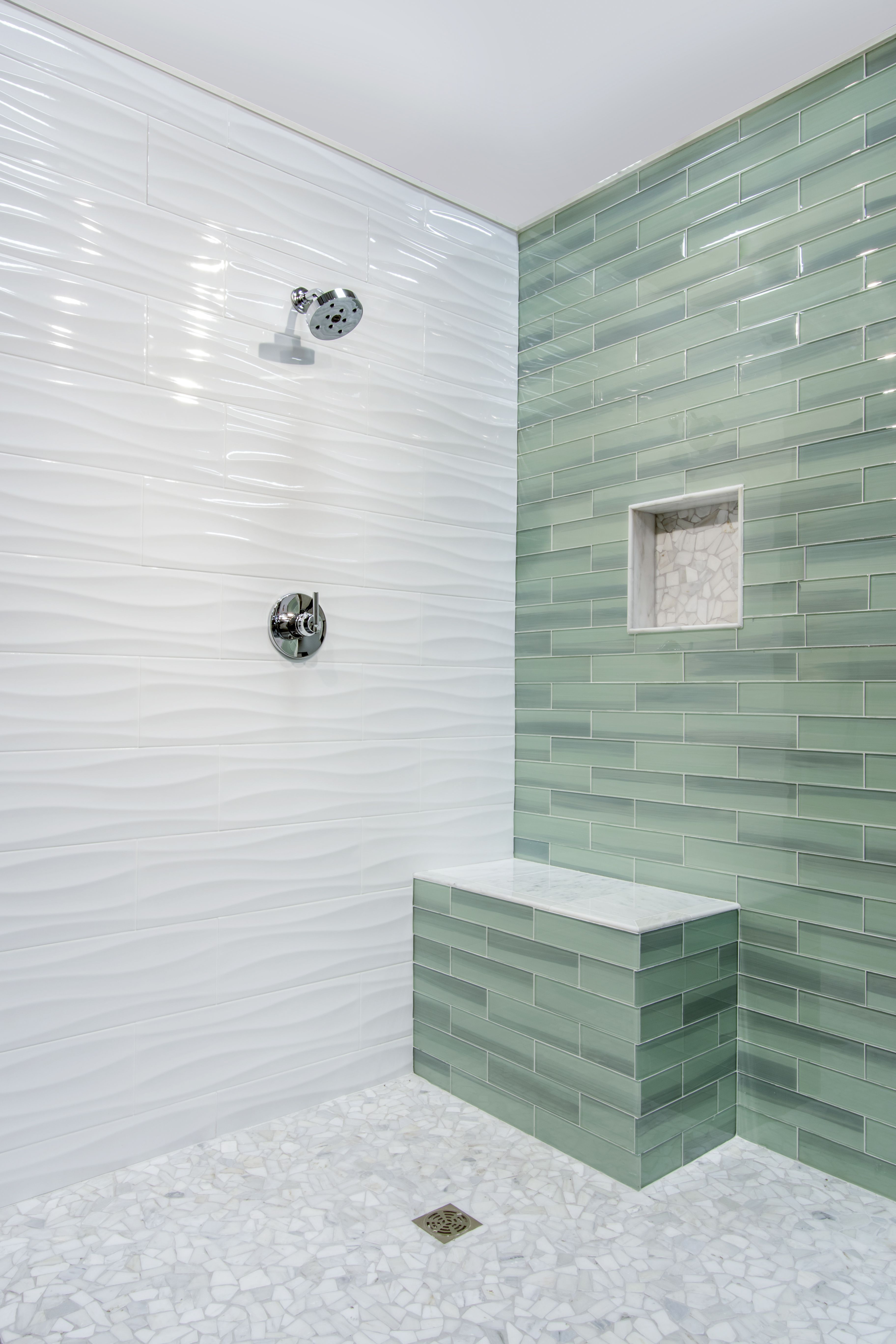 Bring tranquility and peace into your bathroom design by - Bathroom wall tile design patterns ...