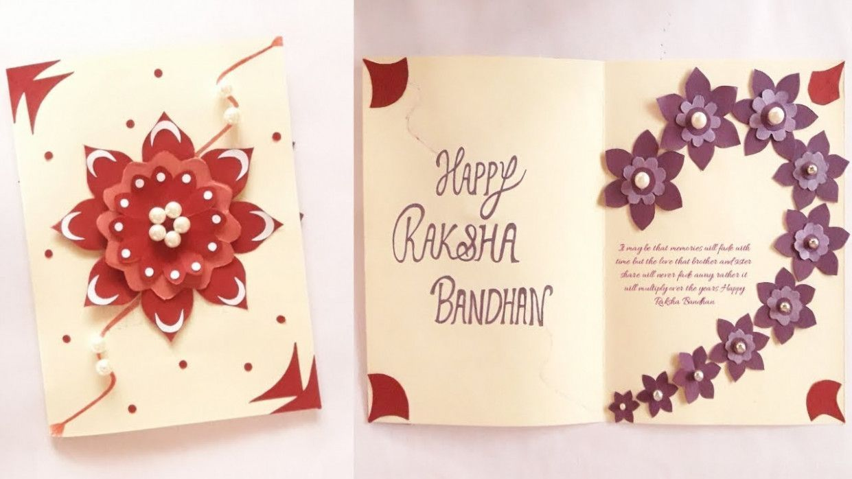 Simple Card For Raksha Bandhan #rakshabandhancards #rakshabandhancards