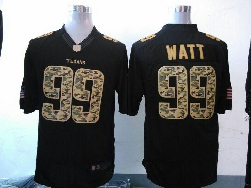 Houston Texans 99 JJ Watt Black 2014 Nike Salute TO Service Jersey ... 3e836aaac