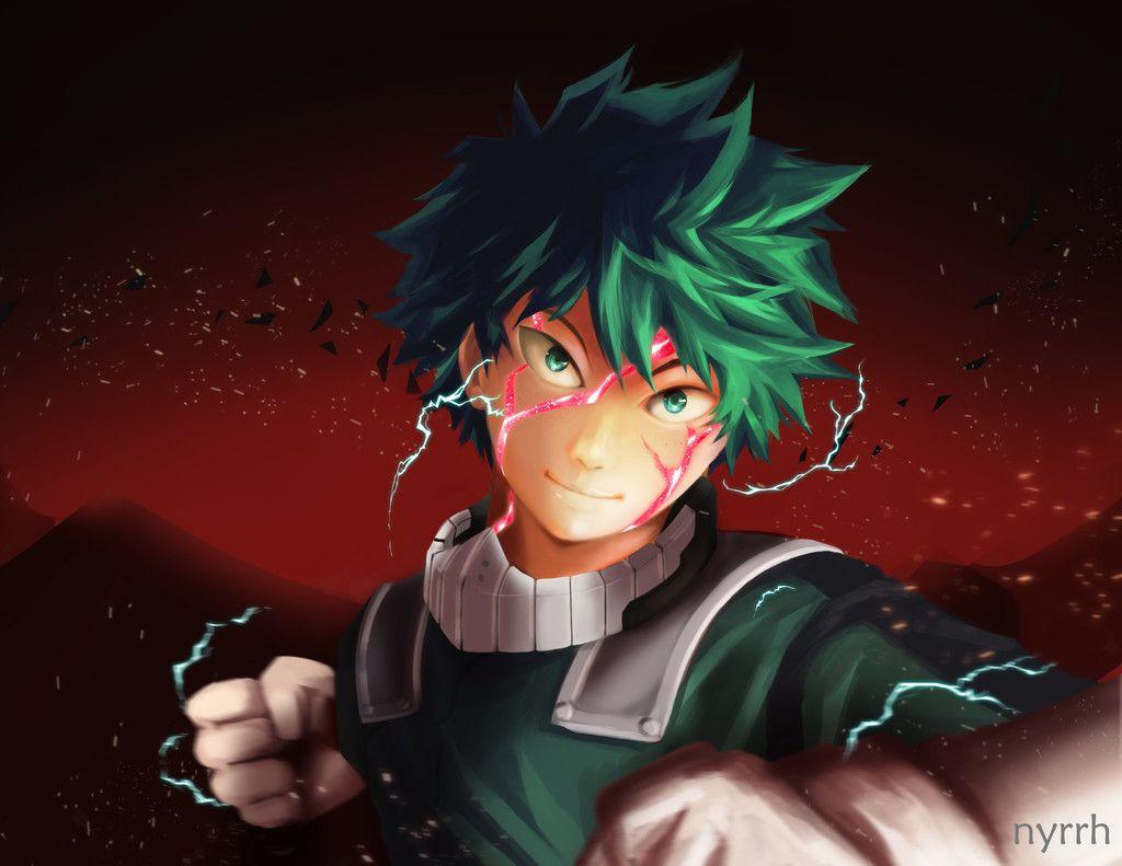 Green Hair Anime Anime Boy Izuku Midoriya Wallpaper Anime Anime Boy Boku No Hero Academia