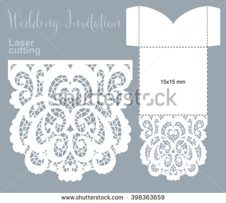 Vector die laser cut envelope template invitation envelope wedding stock images royalty free images vectors stopboris Image collections