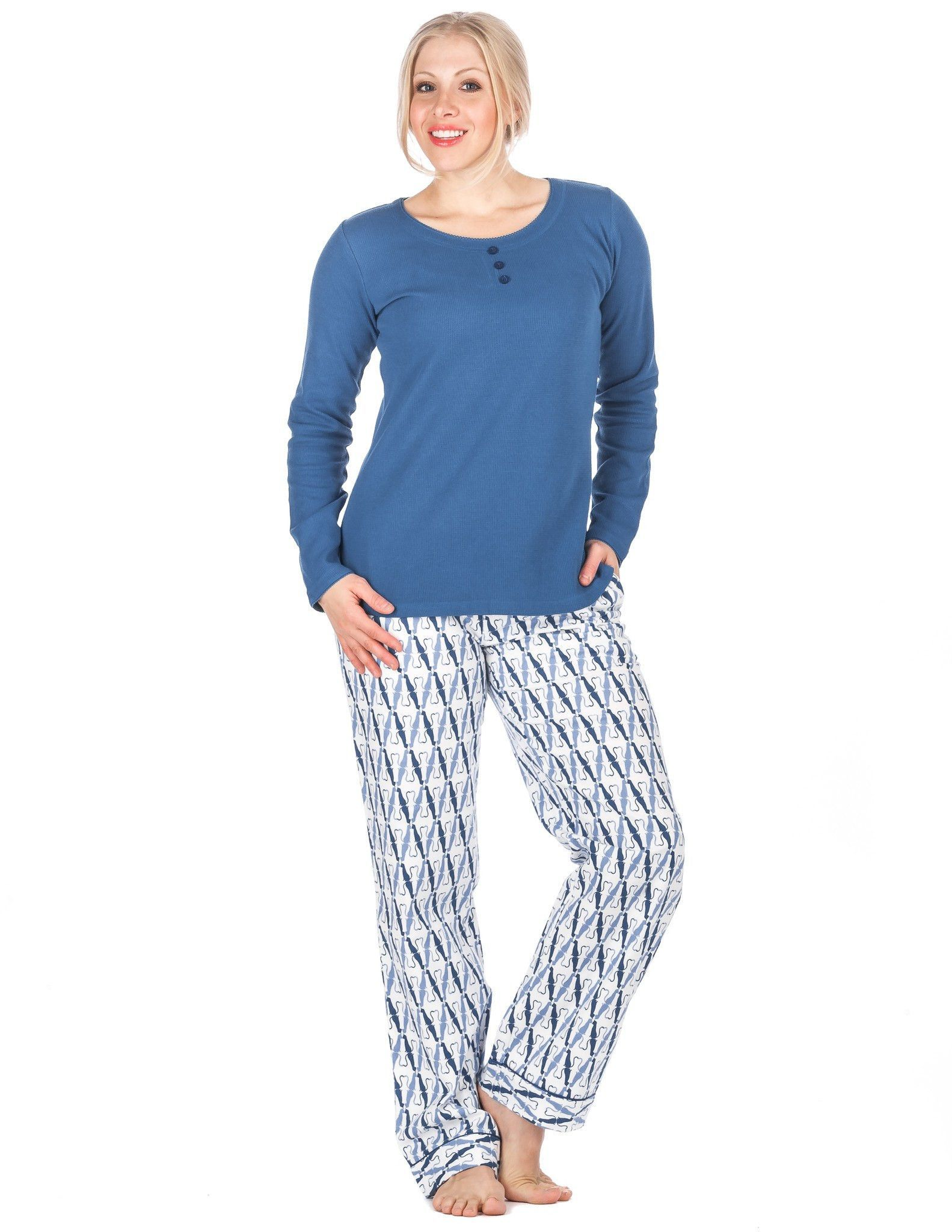 Womens Premium 100% Cotton Flannel Loungewear Set - Relaxed Fit ... 18468739b