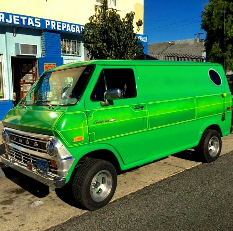 Pin By Kenny T On Customvans Ford Van Custom Vans Old School Vans