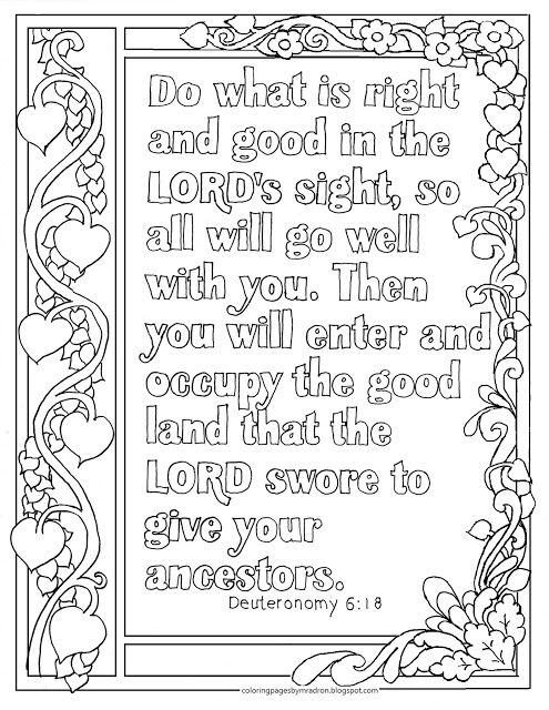 Deuteronomy 13:13, Do what is right and good print and color page ...