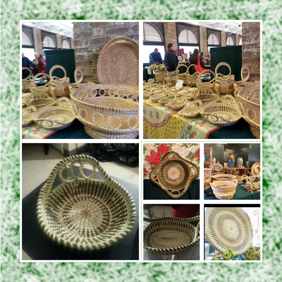 Ophelia - Hand Made Sweet Grass Baskets, Night Market, Charleston City Market, Vendor, Charleston SC - CNM: SM4