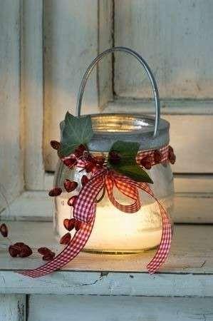 lanterna decorata - idee carine per decorare le lanterne natalizie