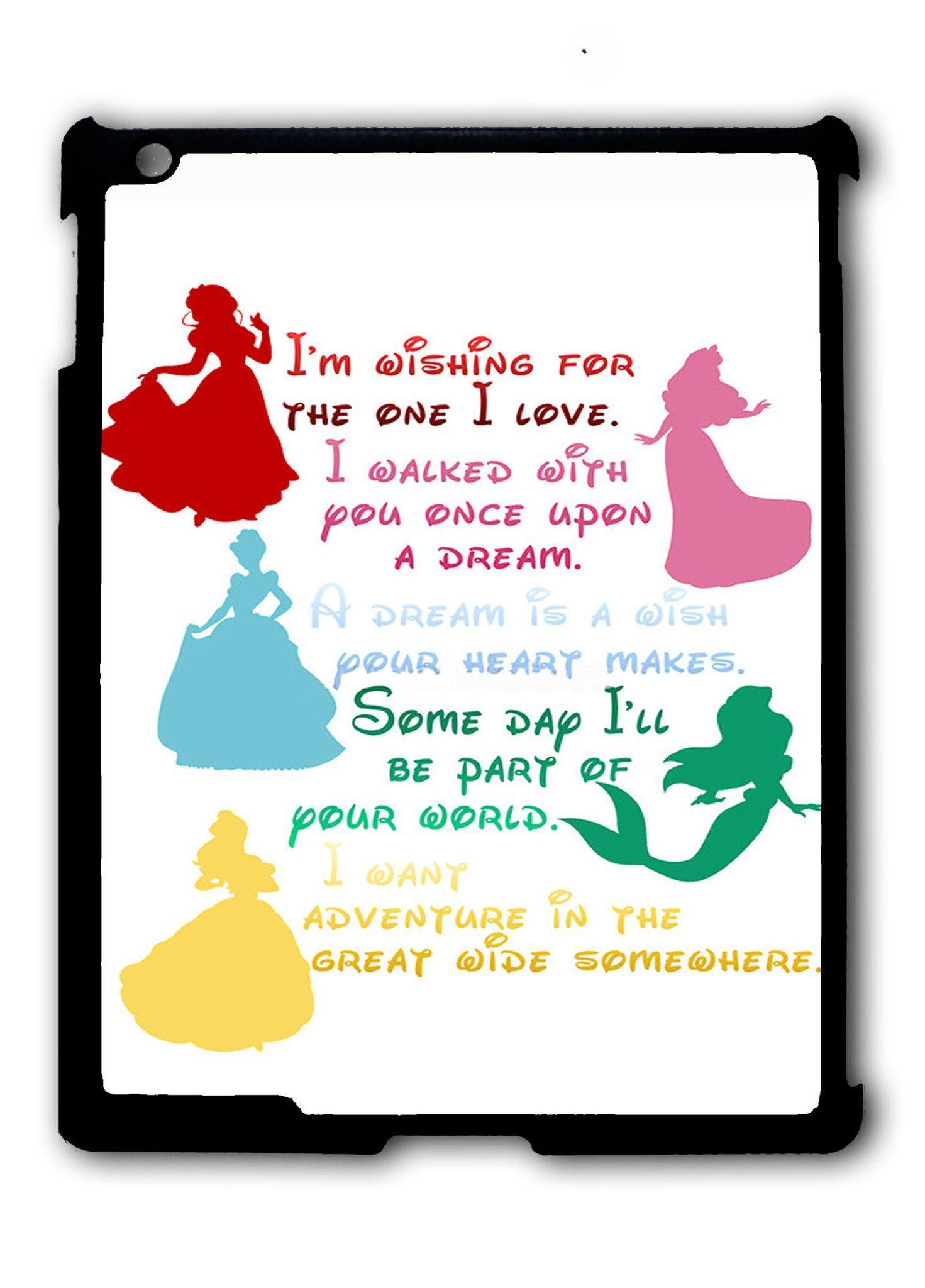 Disney Princesses Quotes Ipad 2 3 4 Ipad Mini 1 2 3