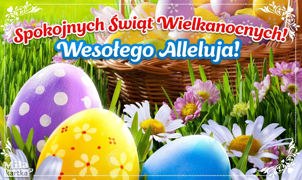 Spokojnych Swiat Wielkanoc With Images Wielkanoc Kartki