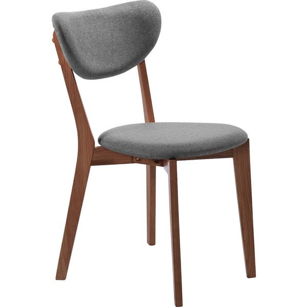 Dot Bo Heja Dining Chair In Charcoal Walnut Legs 770 Brl Liked On Polyvore Featuring Home Furnitur Walnut Dining Chair Dining Chairs Oak Dining Chairs
